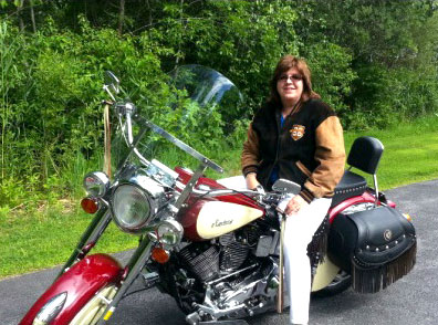 Heidi Clute on Road Pitch 2014 motorcycle ride