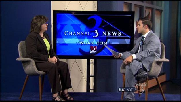 Heidi Clute discusses finances on WCAX TV morning news program
