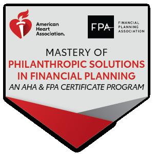 Philanthropy FPA AHA Badge