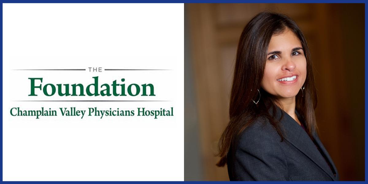 The Foundation of Champlain Valley Phsyicians Hospital and Christina Ubl headshot